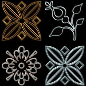 12 Edged Metallic Outline Layer Styles Thumbnail