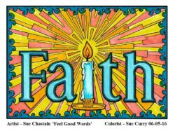 """Faith"" colored by Sue Curry"
