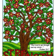 """""""Strength"""" colored by Sue Curry"""