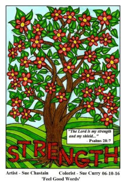 """Strength"" colored by Sue Curry"