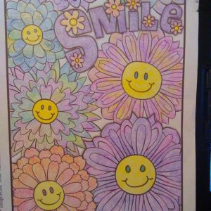 """Smile"" colored by teresa howard smith"