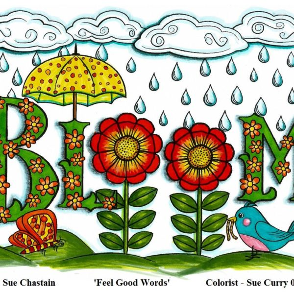 """""""Bloom"""" colored by Sue Curry"""