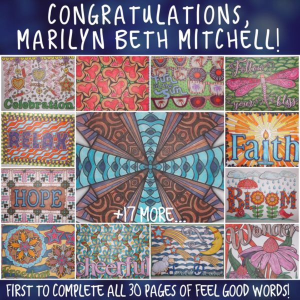 Marilyn Beth Mitchell Colored all 30 Feel Good Words