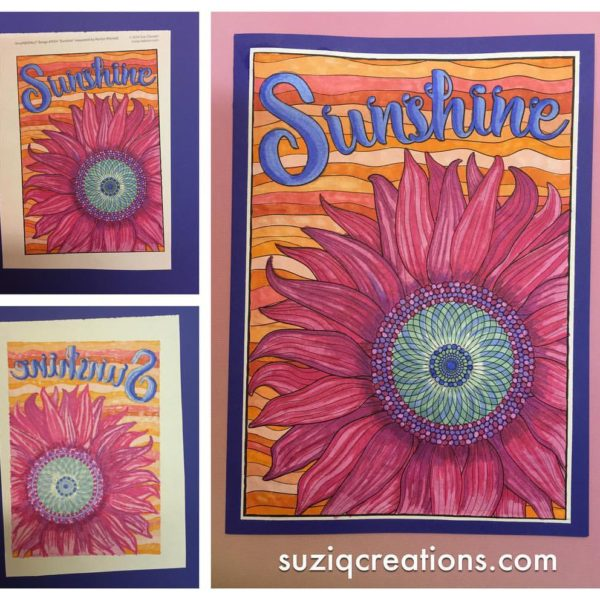 Sunshine colored by Sue Chastain