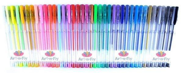 40 colors with no duplicates in the Art-n-Fly Gel Pen Set | Photo: Amazon