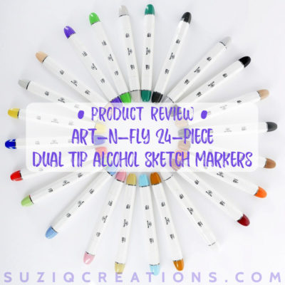 Review of Art-n-Fly 24 Dual Tip Alcohol Sketch Markers