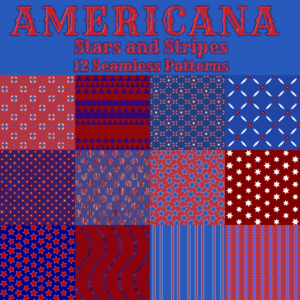 Americana Seamless Patterns Preview
