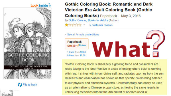 A bad coloring book description that says nothing about the book contents.