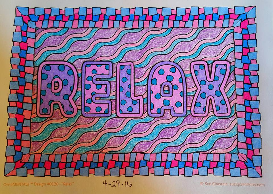 """Relax"" colored by Brenda Hanson"