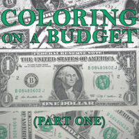Coloring on a Budget Part 1 - Inexpensive Coloring Books and Pages