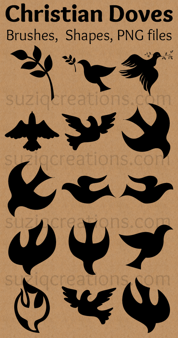 Free Christian Dove Symbols Suziq Creations