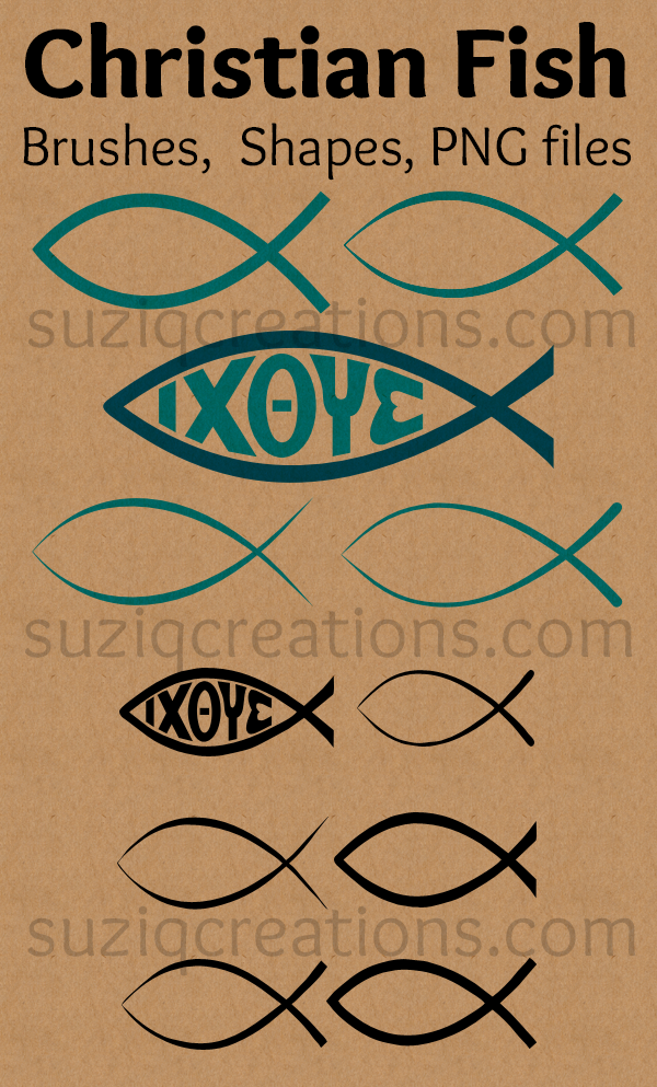 Christian Fish Symbols Preview