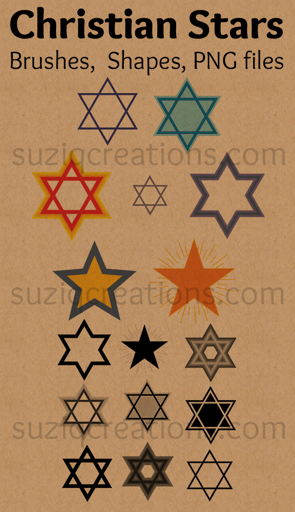 Christian and Jewish Star Symbols Preview