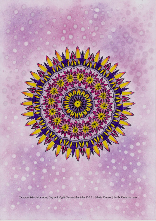 Mandala colored by Cindy Nation