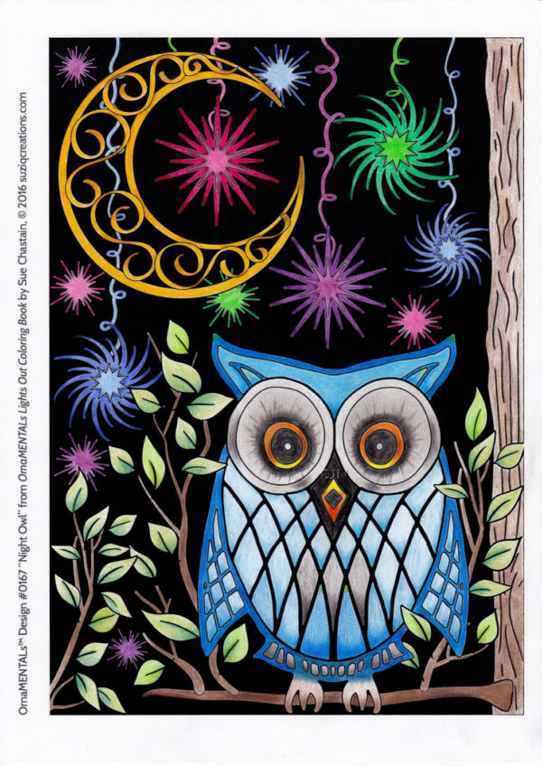 """Night Owl"" colored by Cindy Nation"