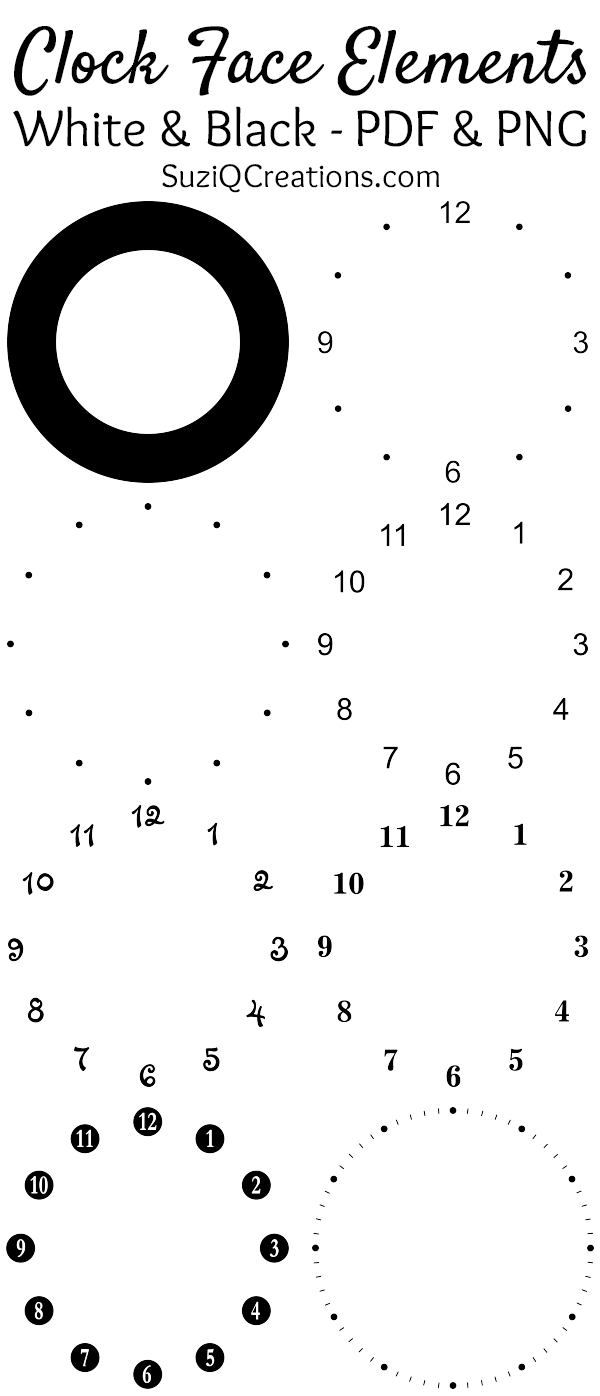 Clock Face Elements Preview