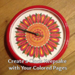 Create a Clock Gift with Your Colored Pages