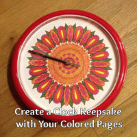 Coloring Page Crafts: Create a Clock Gift