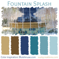 Fountain Splash Color Scheme inspired by Bluishmuse
