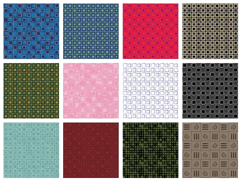 12 Square Design Patterns Sample