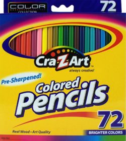CraZart brand 72-count colored pencils