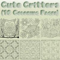 Cute Critters Coloring Page Bundle Thumbnail