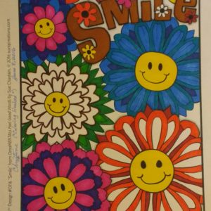 """Smile"" from Feel Good Words, colored by Christine."