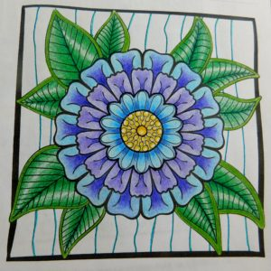 """Showy Blossom"" from MiniMENTALs colored by Deidre Snee."