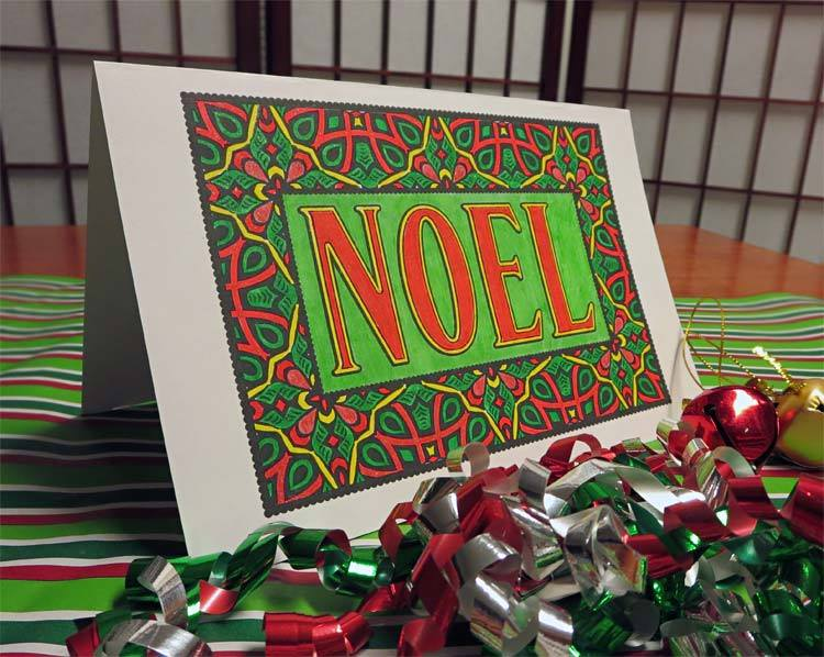"""Noel"" from Feel Good Words To-Go Digital Bundle colored by David Wilmoth"