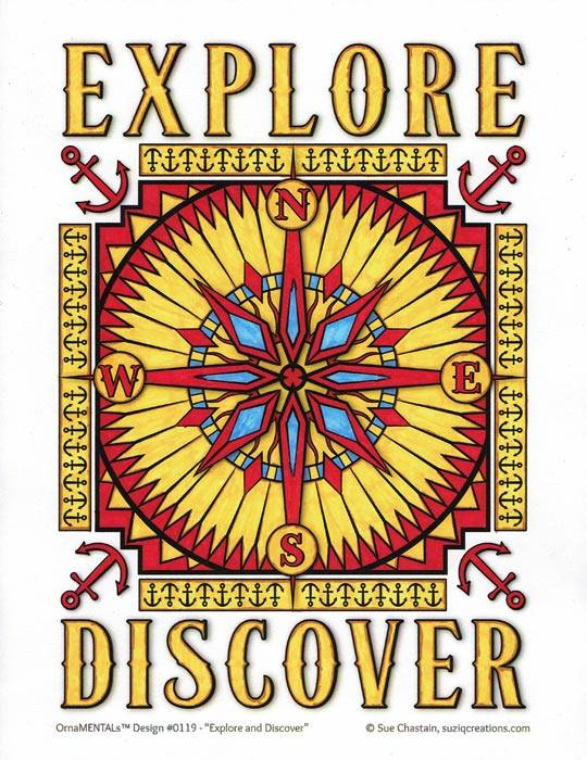 """Explore / Discover"" colored by David Wilmoth"