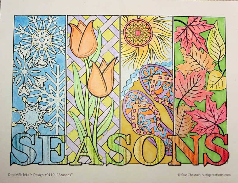 """Seasons"" colored by David Wilmoth"