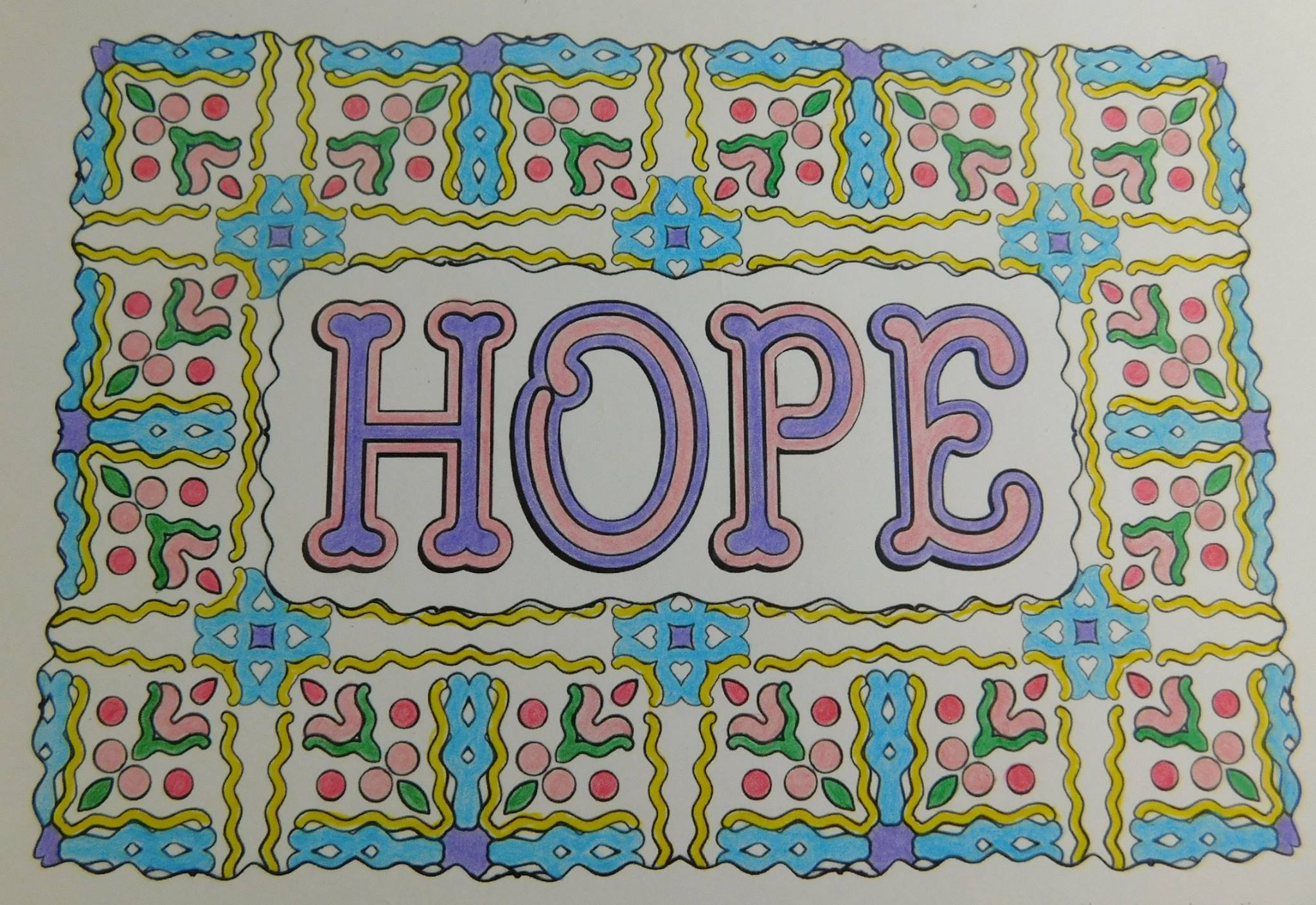 """Hope"" colored by Deidre Snee"