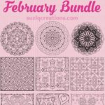 February Coloring Page Bundle - Hearts and Love - 12 Pages