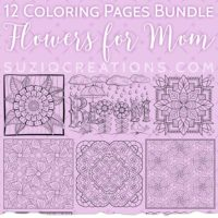 Flowers for Mom Coloring Page Bundle Thumbnail