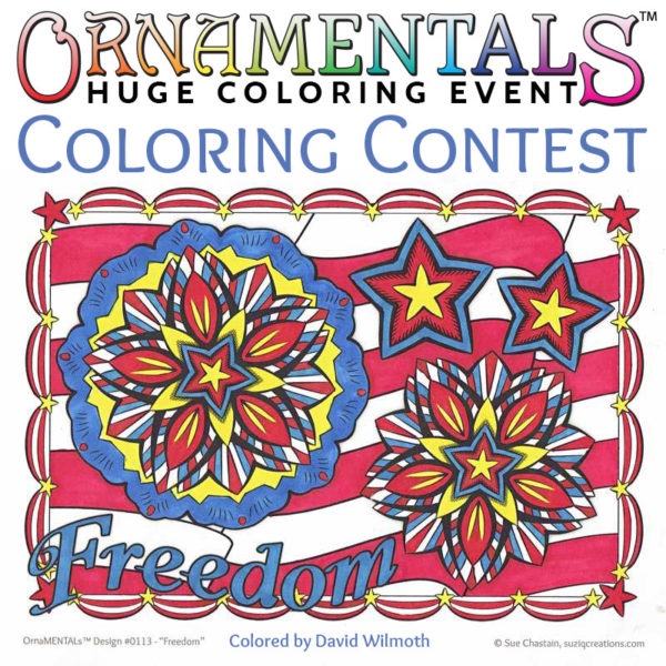 OrnaMENTALs Coloring Contest and HUGE Coloring Event - July 9, 2016