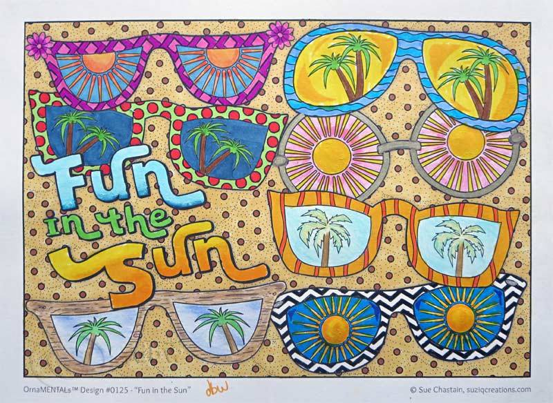 Fun in the Sun colored by David Wilmoth