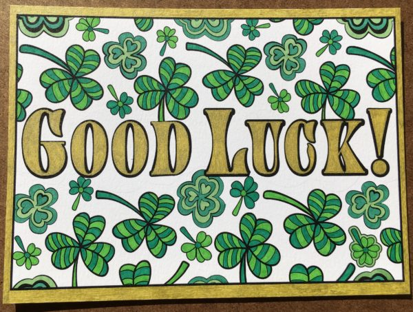 """Good Luck"" colored by Lisa Frey"