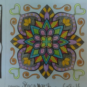 From MiniMENTALs On-the-Go coloring book, colored by Stacy Marsh