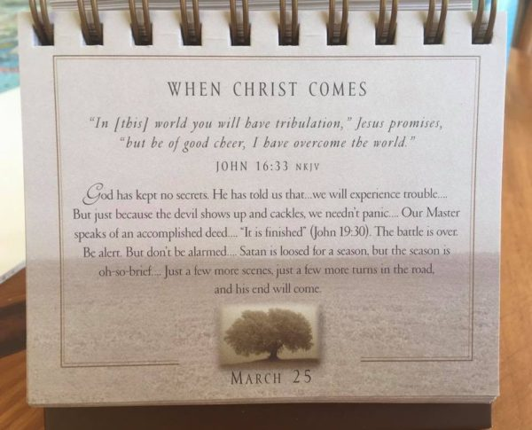 March 25 Max Lucado Daily Devotional Calendar