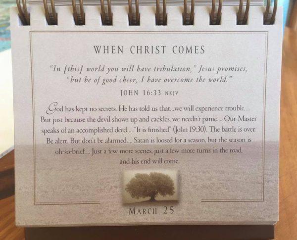 March 25 Max Lucado Daily Devotional Calendar