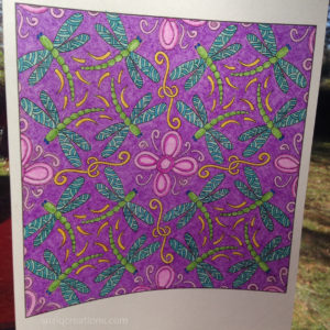 """Dragonflies Dance"" Coloring Page on Translucent Vellum"