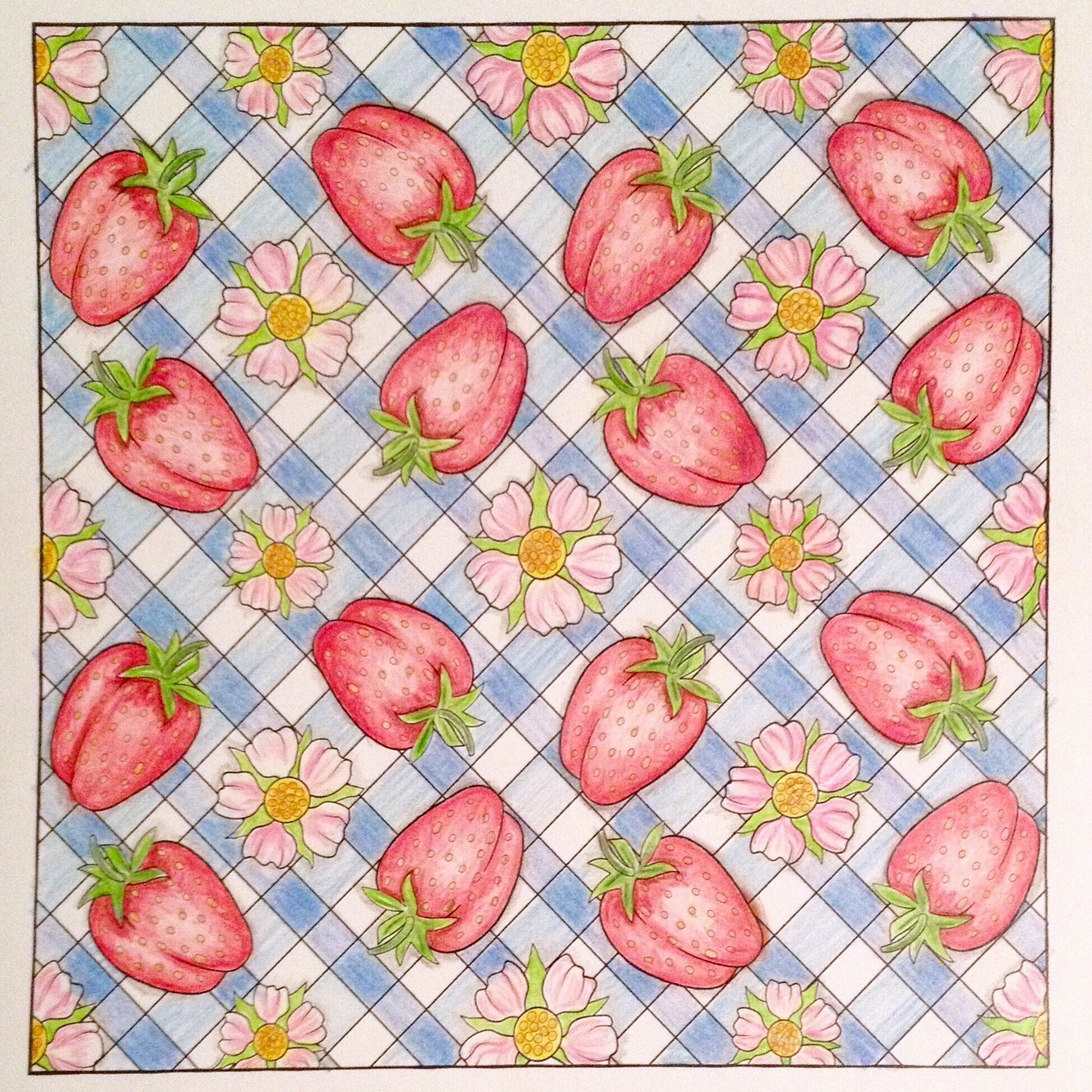 "OrnaMENTALs Design #0070 ""Strawberry Picnic"""