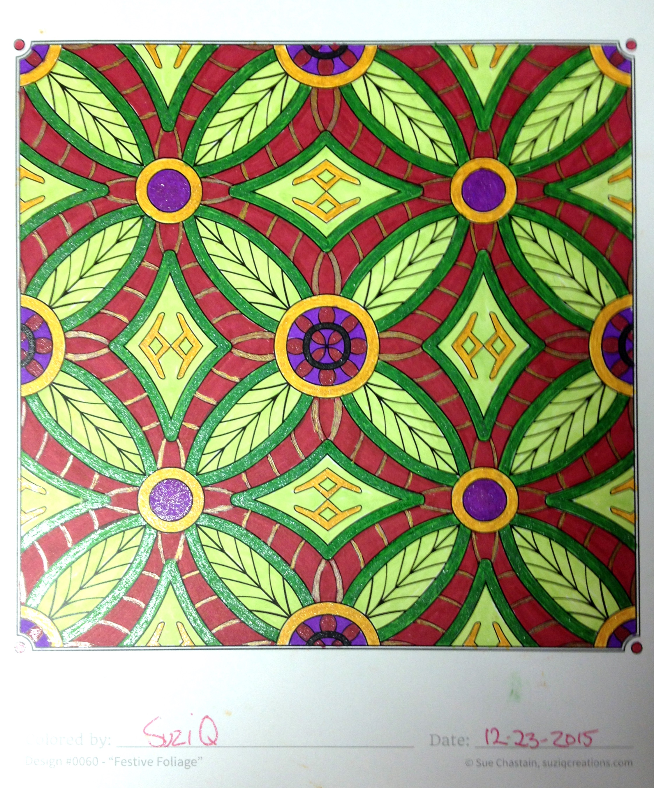 Colored by Sue Chastain with Bics, Sharpies, and Gel pens.