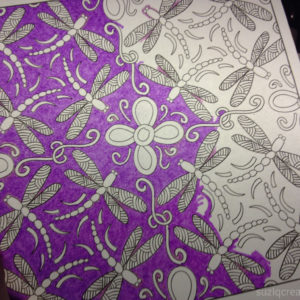 Coloring Page on Translucent Vellum