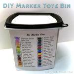 DIY Marker Tote Bin