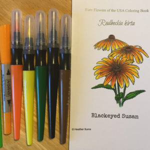 Coloring with Art-n-Fly Soft Brush Markers