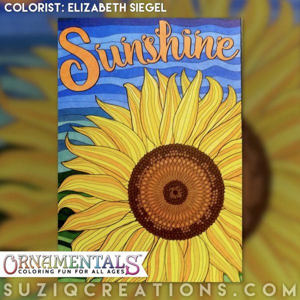 Sunshine colored by Elizabeth Seigel