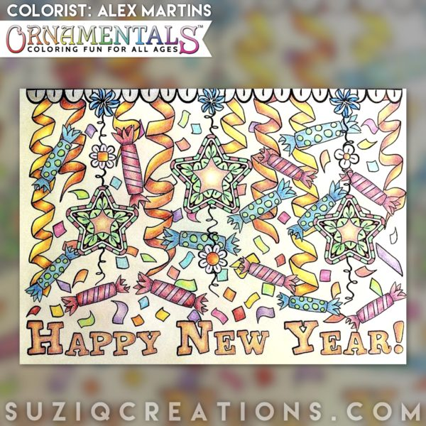 Happy New Year colored by Alex Martins