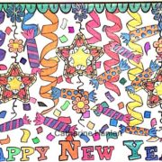 Happy New Year colored by Catherine Hanlon