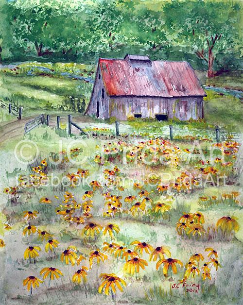 Black-Eyed Susan Wildflower Barn
